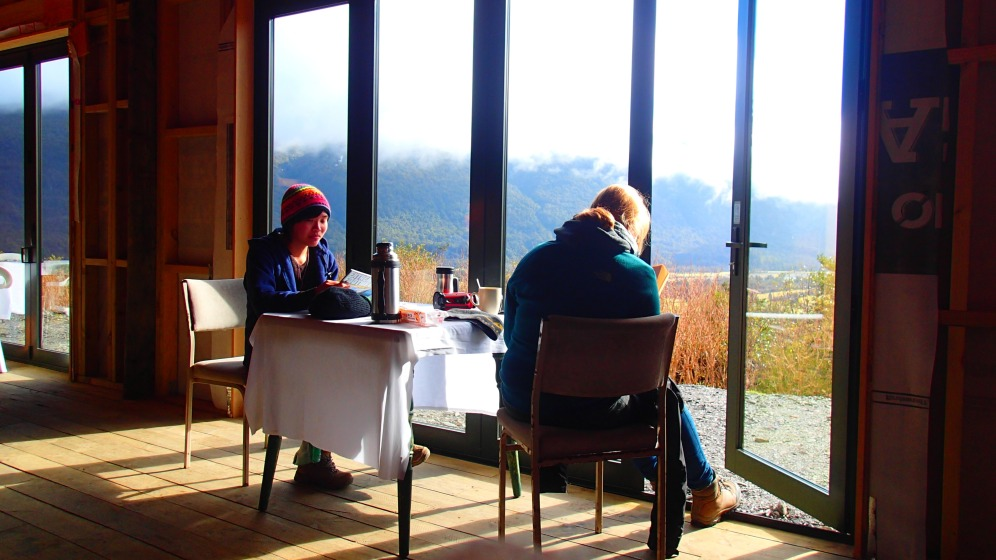enjoying the view - dining