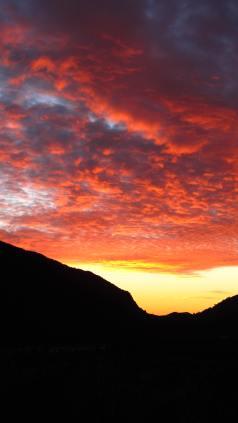 blood sunset